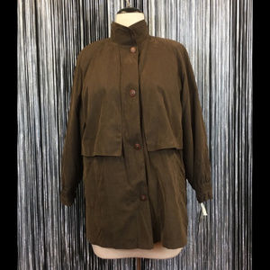 NWT Gallery Chocolate Moss Microfiber Coat